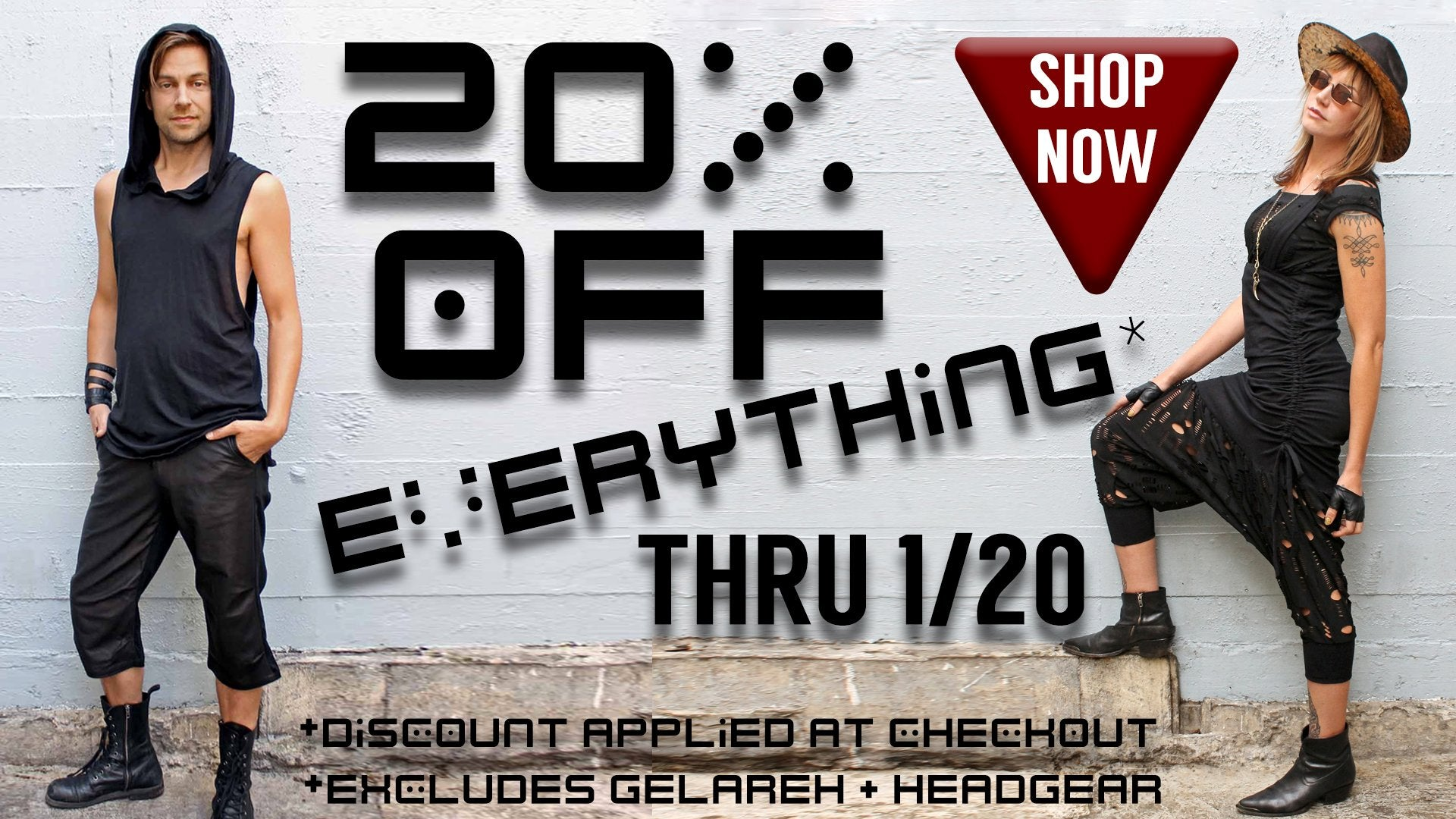 20% off Regular Priced items *Excludes Gelareh & Headgear