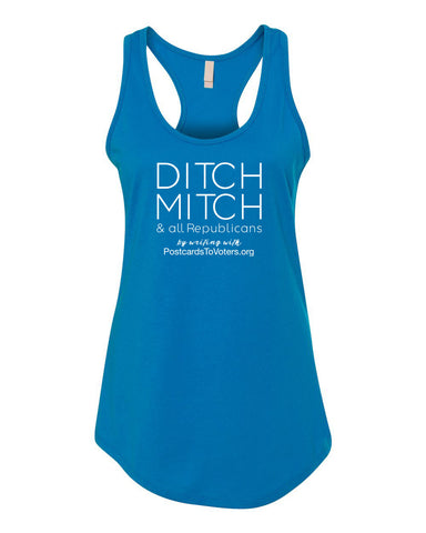 DITCH MITCH - PTV Women's Turquoise Tank