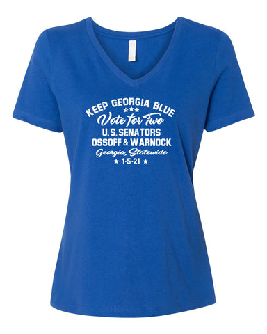 VOTE FOR TWO Women's Royal Relaxed V-neck