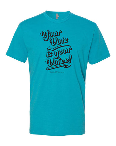 YOUR VOTE Unisex Heather Blend Blue T