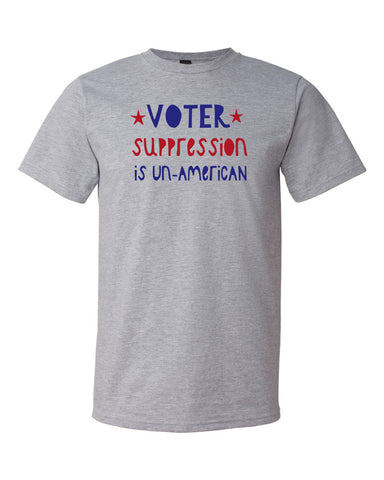 Voter Suppression Unisex Heather Grey T