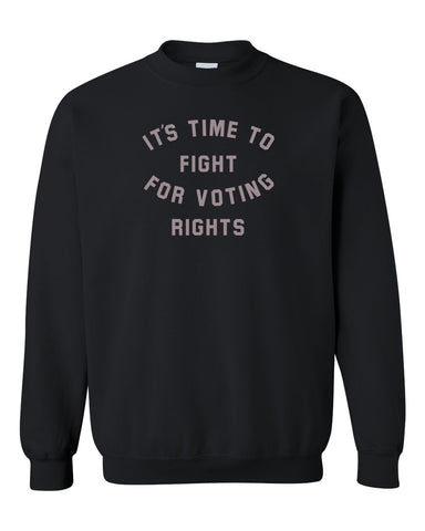 Fight for Voting Rights Black Fleece Crewneck