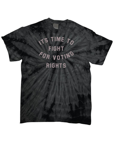 Fight for Voting Rights Black Tie-Dye T