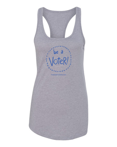 BE A VOTER Women's Heather Grey Tank