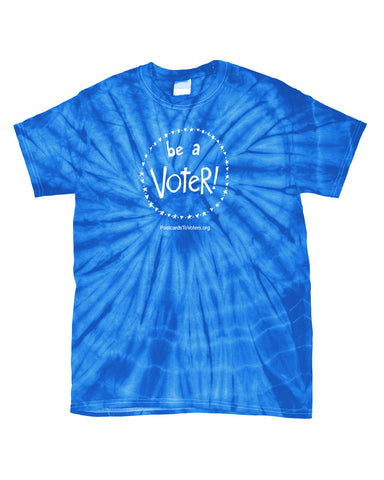 BE A VOTER Unisex Royal/White Tie-Dye T