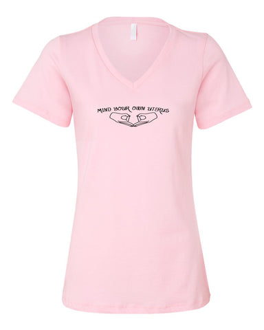 Mind Your Own Women's Pink V neck