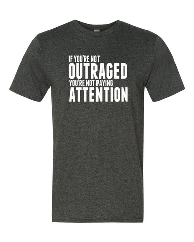 OUTRAGED Unisex Dark Heather T