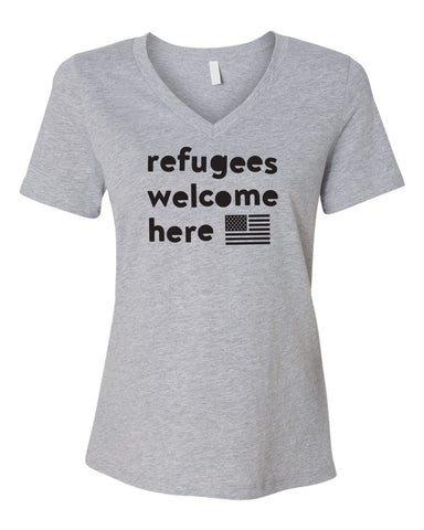 Refugees Relaxed Ladies V neck