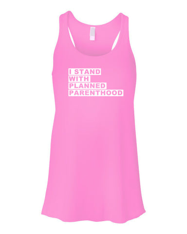I Stand with PP Flowy Ladies Tank