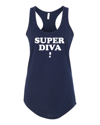 SUPER DIVA Women's Navy Tank