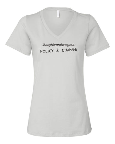 Thoughts and Prayers Relaxed Ladies V neck