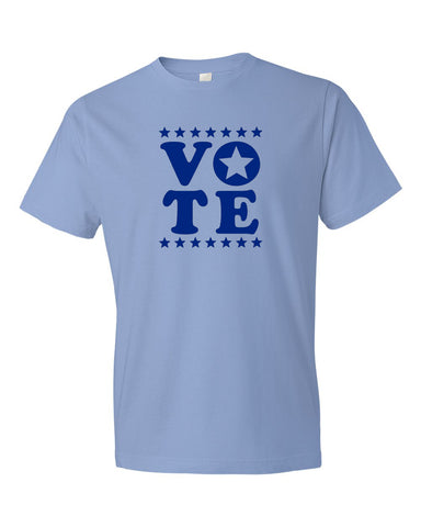 VOTE Unisex Light Blue T