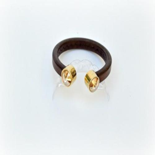 Diana Kauffman Designs Leather Crystal Bangle - Lorraine's for Women