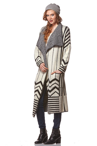 Young Threads Long Sweater Duster - Lorraine's for Women