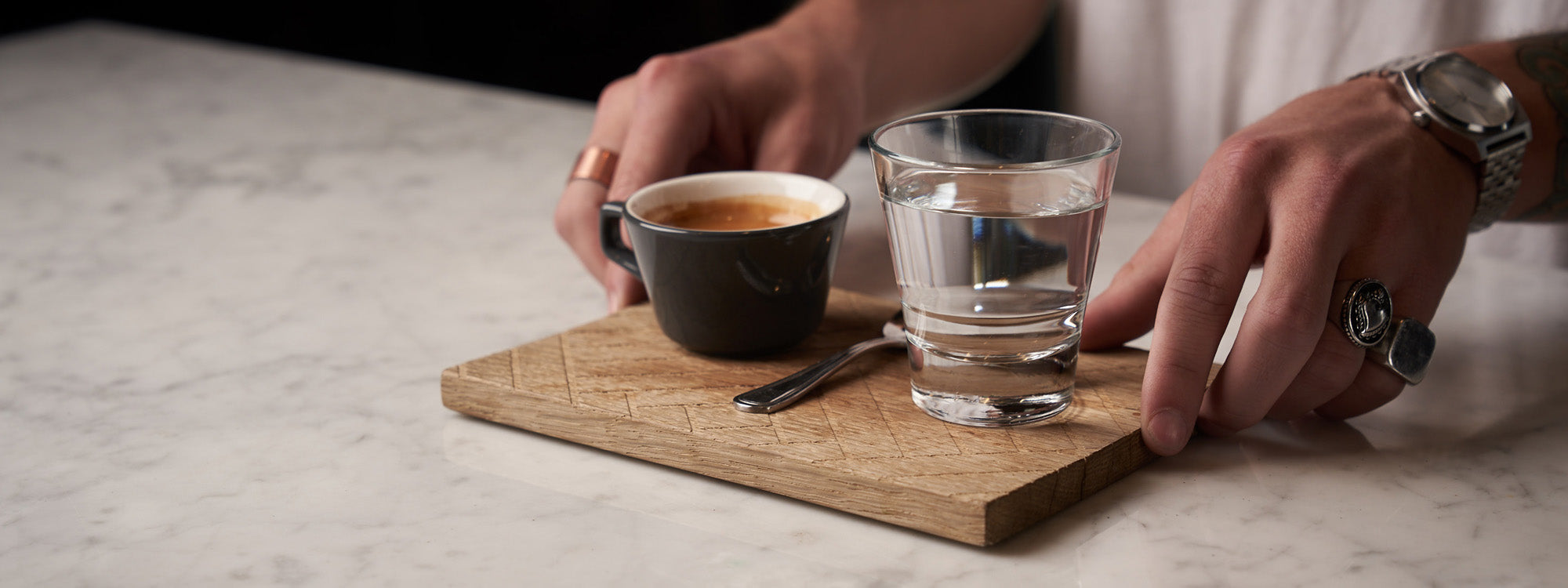 Wholesale Angle Espresso Cup & Saucer - Gray (Six-Pack) – The ...