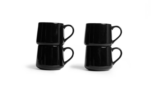 Small Crescent Mug Set - Black