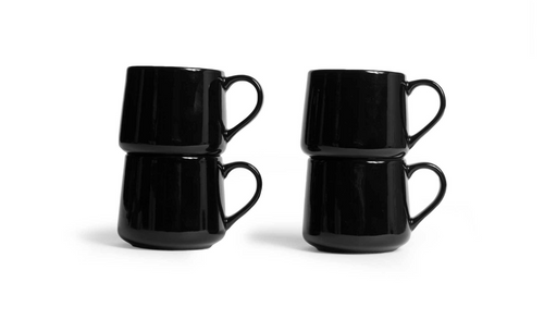 Large Crescent Mug Set - Black