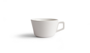 Angle Cappuccino Cup & Saucer - White