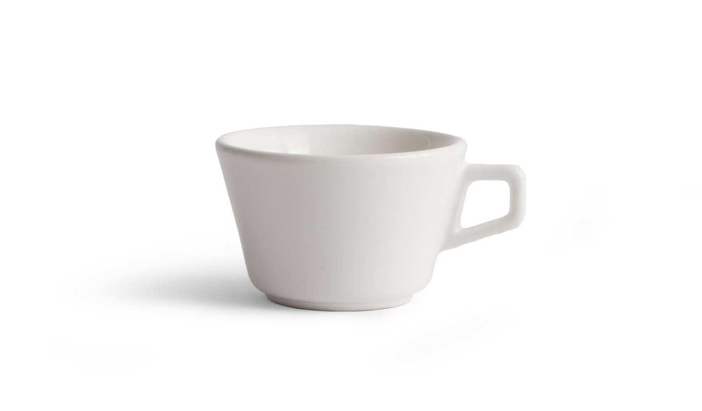 Wholesale Angle Latte Cup - White (Six-Pack)