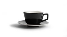 Angle Small Latte Cup & Saucer - Black