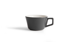 Angle Small Latte Cup & Saucer - Gray