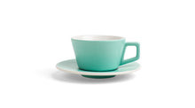 Angle Cappuccino Cup & Saucer - Matte Mint