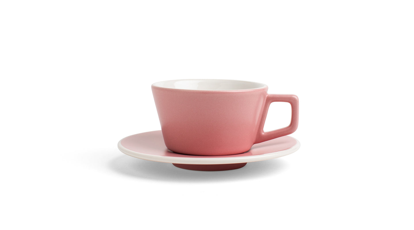Angle Cappuccino Cup & Saucer - Blush Pink