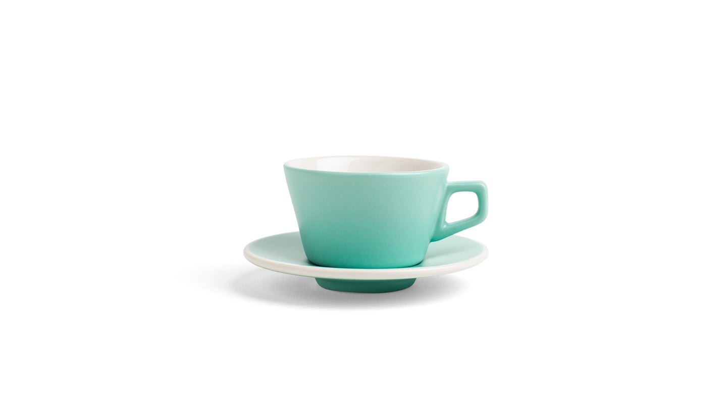 Angle Espresso Cup & Saucer - Mint