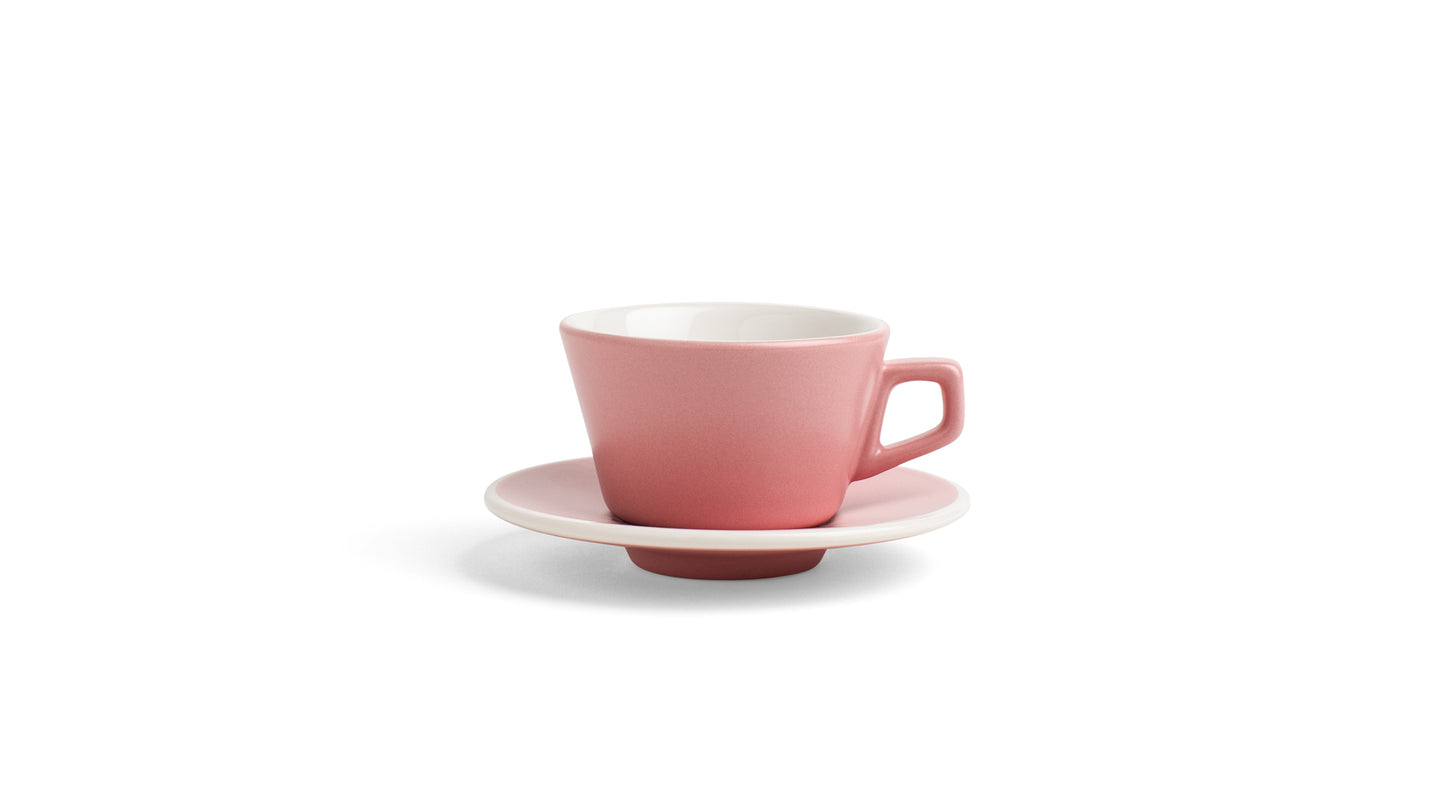 Angle Espresso Cup & Saucer - Blush Pink