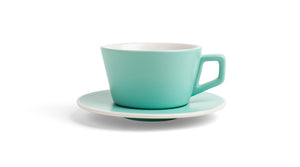 Angle Latte Cup & Saucer - Mint