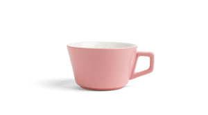 Angle Latte Cup & Saucer - Blush Pink