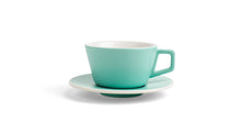Angle Small Latte Cup & Saucer - Mint