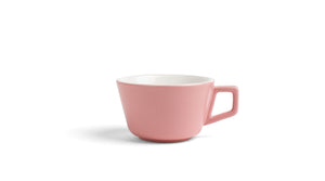 Angle Small Latte Cup & Saucer - Blush Pink