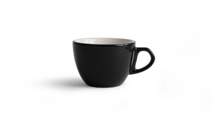 Curve Cappuccino Cup & Saucer - Black