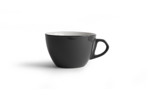 Curve Small Latte Cup & Saucer - Gray