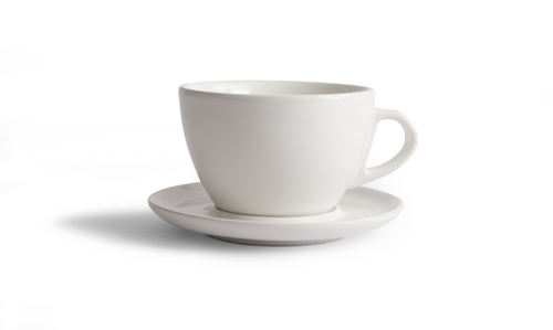 Curve Latte Cup & Saucer - White