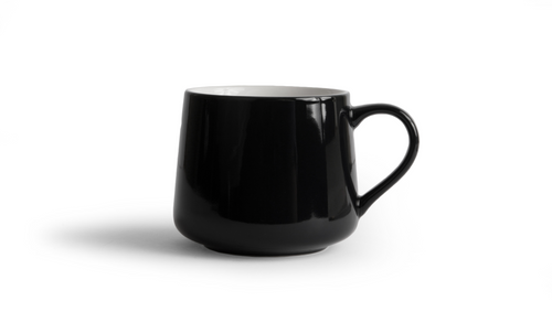 Crescent Mug - Black 16 Ounce