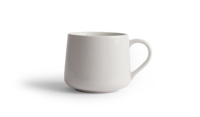 Crescent Mug - White 16 Ounce