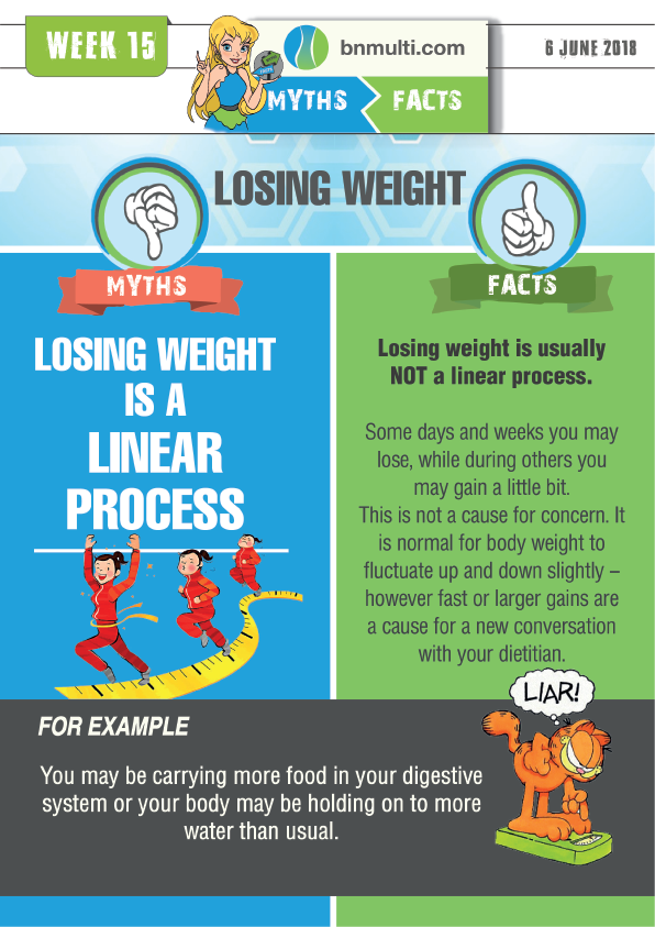 "Myths and Facts about ""Losing Weight is a Linear Process"""