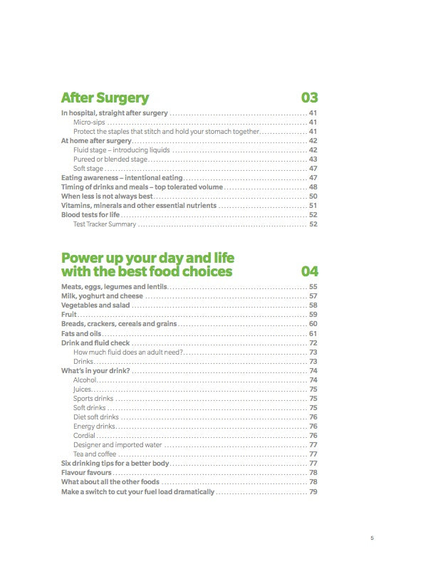 The Gastric Sleeve Guide Table of Contents Page 5
