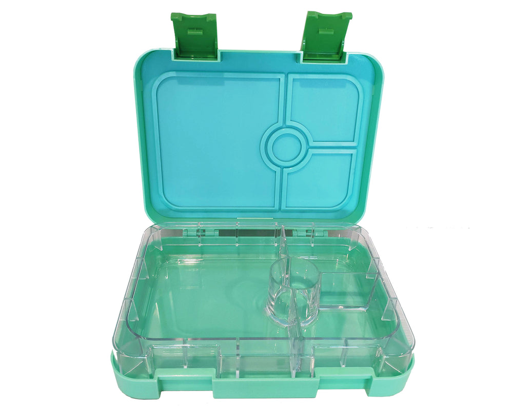 PORTION LUNCH BOX 4 COMPARTMENTS GREEN