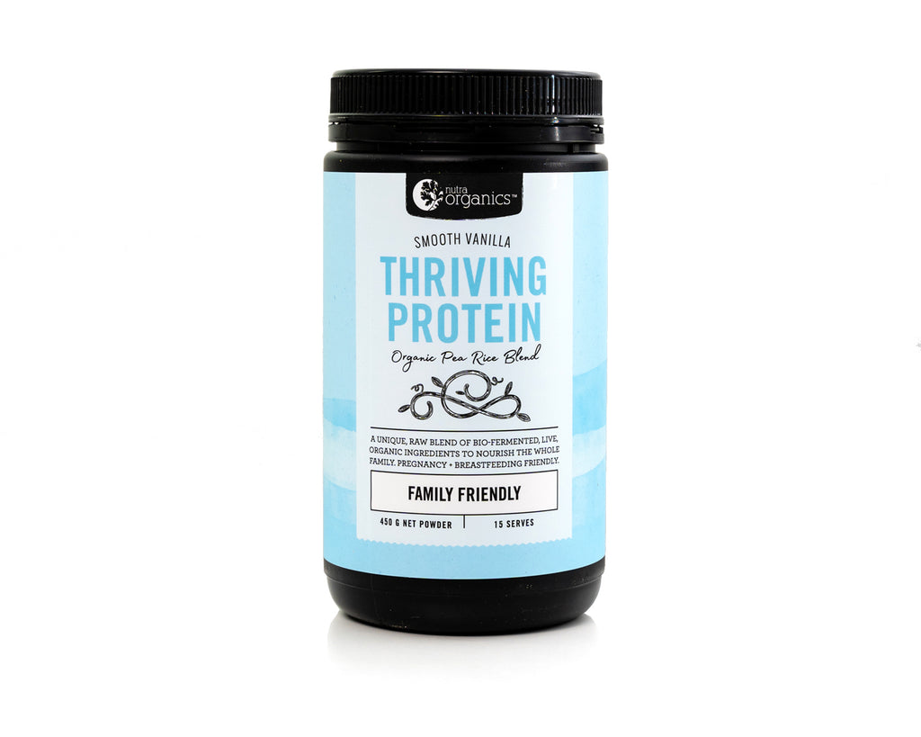 Nutra Organics Thriving Protein Powder - Smooth Vanilla - 450g