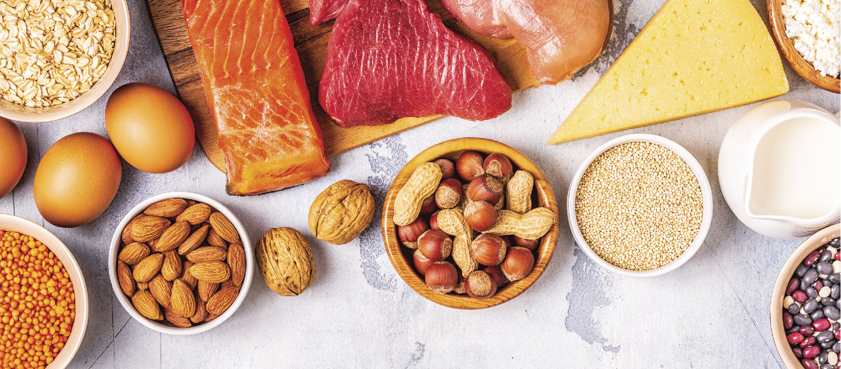 Protein Rich foods like nuts