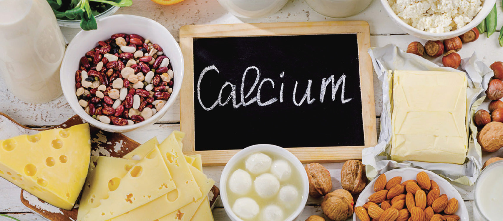 Calcium-rich foods like nuts and cheese