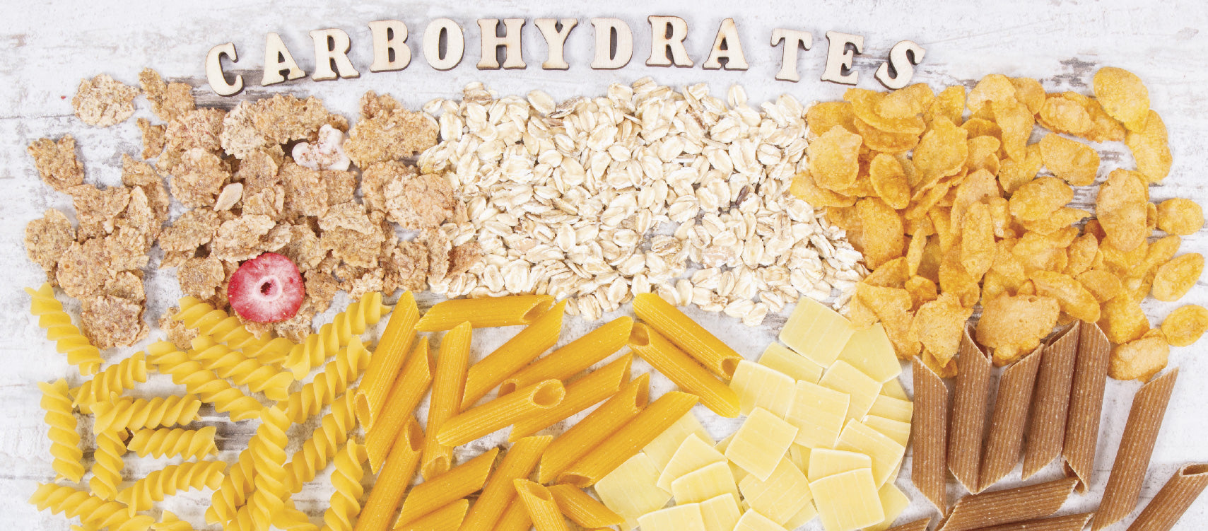Carbohydrates-rich food like pasta