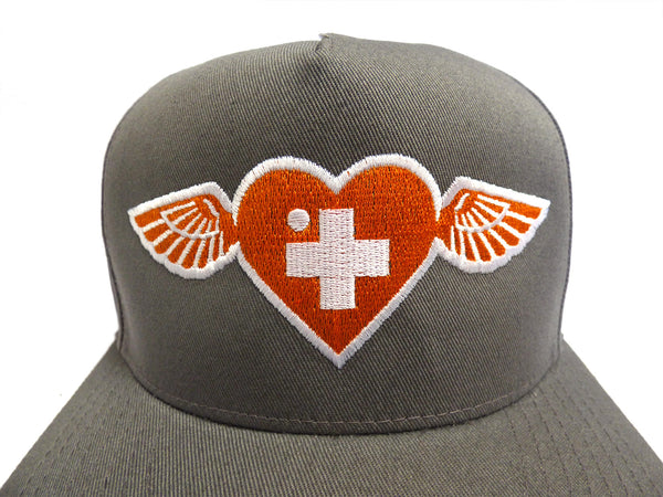 Shepard Fairey Winged Heart 5-panel Snapback Hat