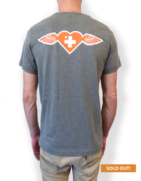 Shepard Fairey Give To Cure Winged Heart tee
