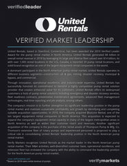 Verified Market Leadership Award for North American Pump Rental Market