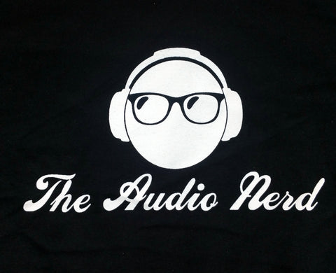 """The Audio Nerd"" T-shirt Black w White Lettering"