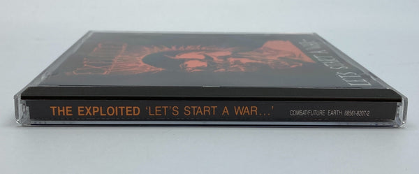 The Exploited Let's Start A War... Said Maggie One Day Combat Label CD